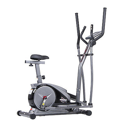 ON SALE! 2-in-1 Elliptical Trainer and Fitness Bike - Hybrid by Body Champ