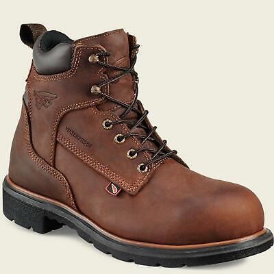 Red Wing 4215 Mens STEEL TOE Brown MADE IN THE USA Waterproof Leather Boots Red Waterproof Leather