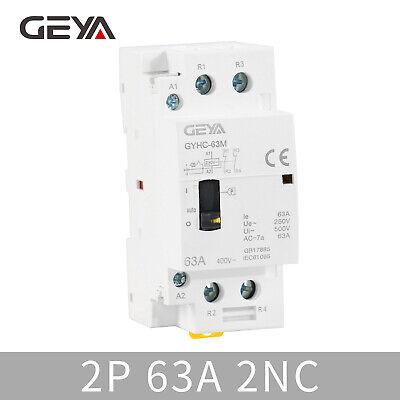 GYHC 2P 63A 2NC 220V 50Hz Manual Household Modular AC Contactor Din...