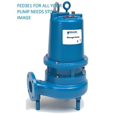 Goulds Ws5012d3 5 Hp 3 Manual Submersible Sewage Pump 160- 230v