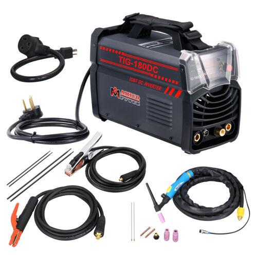 TIG-180DC 180-Amp TIG-Torch ARC/Stick DC Welder 110/230V Dual Voltage Welding