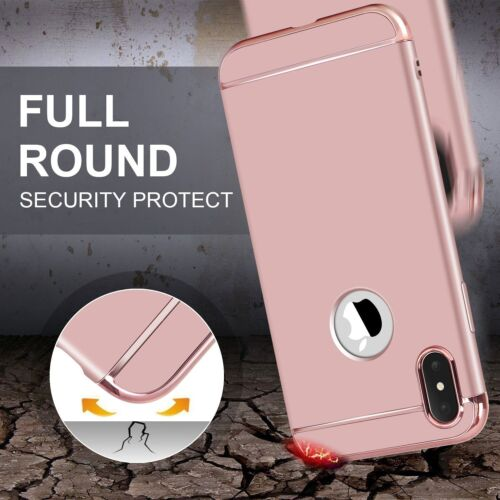 For iPhone XS X 8 7 6S Plus Shockproof Mosafe® Luxury Protective 3in1 Case Cover