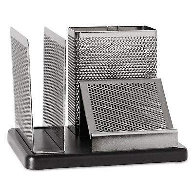 Rolodex Distinctions Desk Organizer (Rolodex Distinctions Desk Organizer 5 7/8 x 5 7/8 x 4 1/2 Metal/Black E23552 )