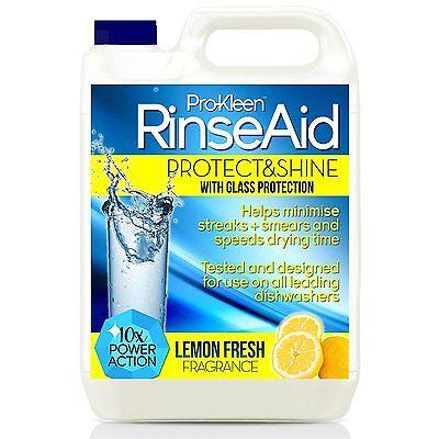 DISHWASHER RINSE AID GLASS DISH WASH DETERGENT LIQUID SHINE FINISH CLEANER LEMON