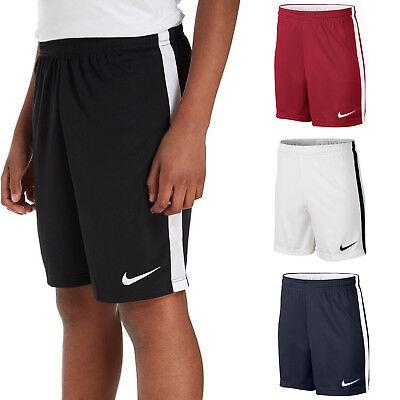 (Nike Boys Shorts Dry Junior Football Training Pants Running Kids Size S M L XL)