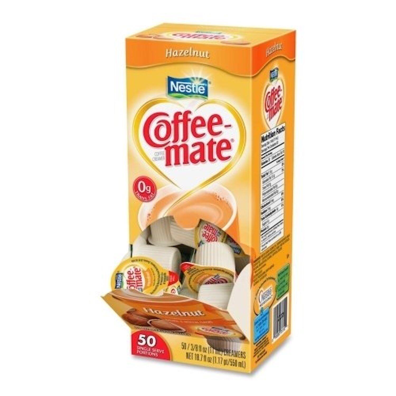 Nestle Coffee-mate Hazelnut Coffee Creamer Liquid Mini Cups - 50 ct.