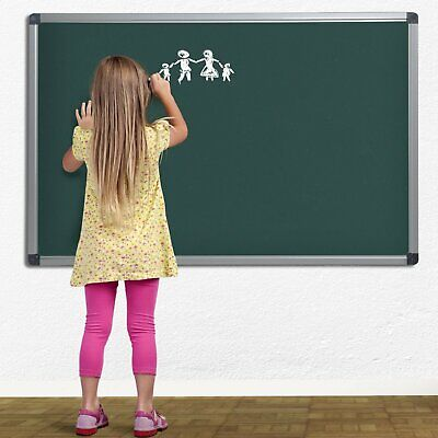 3624 In Green Magnetic Chalk Board Aluminium Framed For Art Notes And Memos