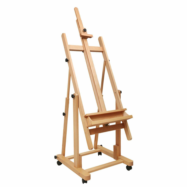 MEEDEN Tilting Studio Easel Height Adjustable H-Frame Wooden