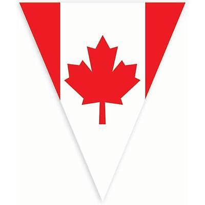 Waving Canadian Flag Maple Leaf Canada Day Party Decoration Pennant Banner - Party Decor Canada