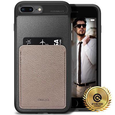 Flex Card - OBLIQ® iPhone 8/7/Plus [Flex Wallet] Case ID/Credit Card Holder TPU Leather Case