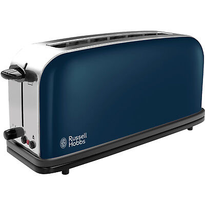 Russell Hobbs Edelstahl Langschlitz Toaster Brötchenaufsatz Zwei Scheiben Toast