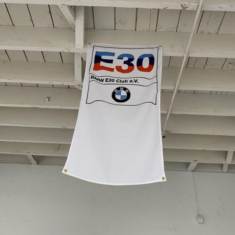 BMW E30 Club Banner 3 Series M3 Sport Evo Z1 Baur 316i 320i M-tek IX Bimmer Flag