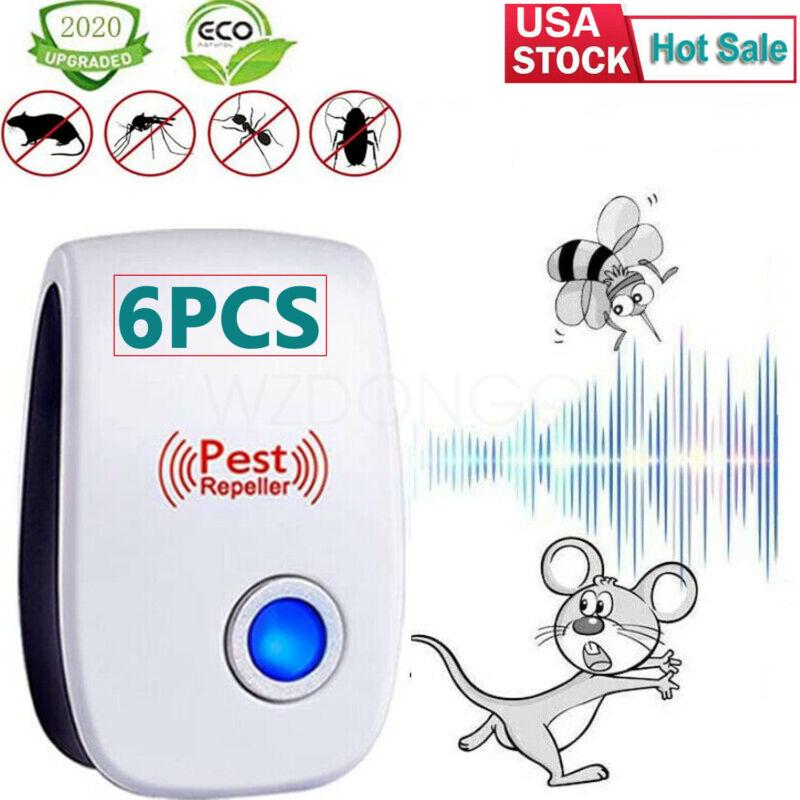 6Pcs Ultrasonic Pest Reject Home Control Electronic Repellent Mice Rat Repeller