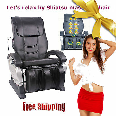 New Full Body Shiatsu Massage Chair Recliner Electric Heat w/Back Roller