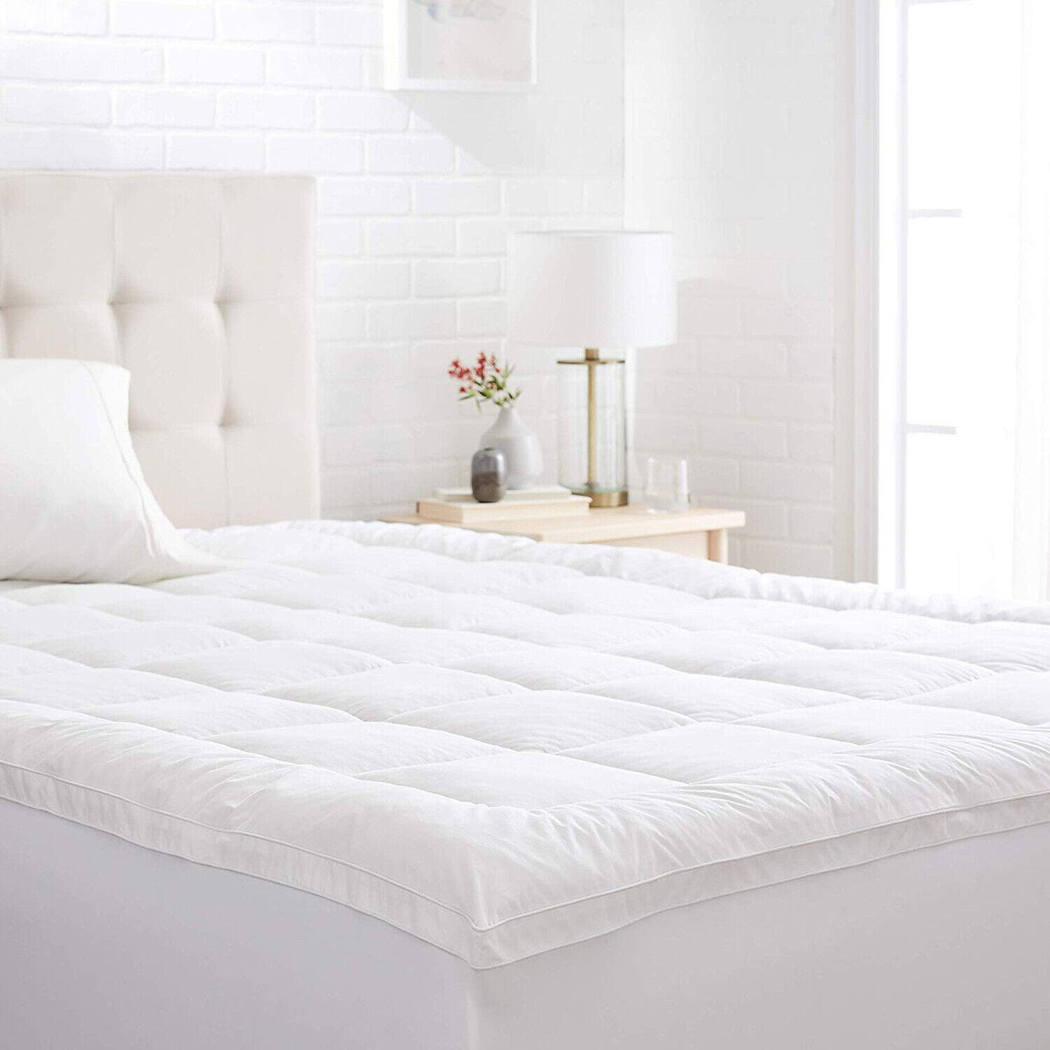 Thick Matress Topper Hypoallergenic Gusseted Down Alternativ