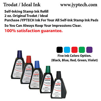 2 oz Trodat/Ideal Rubber Stamp Refill Ink For Stamps or Stamp Pads (5 color ink) - Ink Stamps