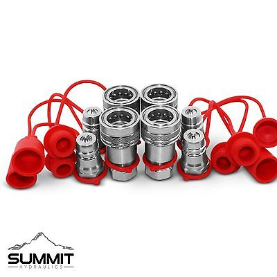 12 Ag Hydraulic Quick Connect Couplers Couplings Poppet Pioneer Style 4 Sets