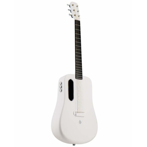 Lava Me 2 Air Sonic Freeboost  Carbon Fiber Ballad Travel White Acoustic Guitar