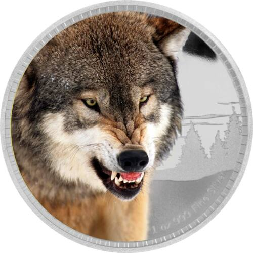 KINGS OF THE CONTINENT 2016 WOLF 1OZ SILVER PROOF COIN