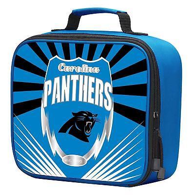 NFL Carolina Panthers Adult / Kids Insulated Lunch Kit Box Bag Food (Carolina Panthers Cooler Bag)