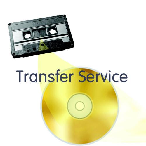 Audio Cassette Tape to CD or WAV Transfer Copy Convert Service