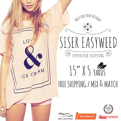 Heat Transfer Vinyl Siser Easyweed 15 X 5 Yards 5 Of 1 Yard Mix And Match