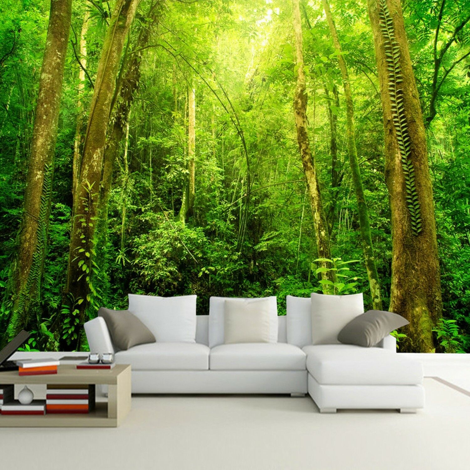 Natural Scenery 3d Hd Large Wall Mural Forest Photo Wallpaper Living Room Art Ebay