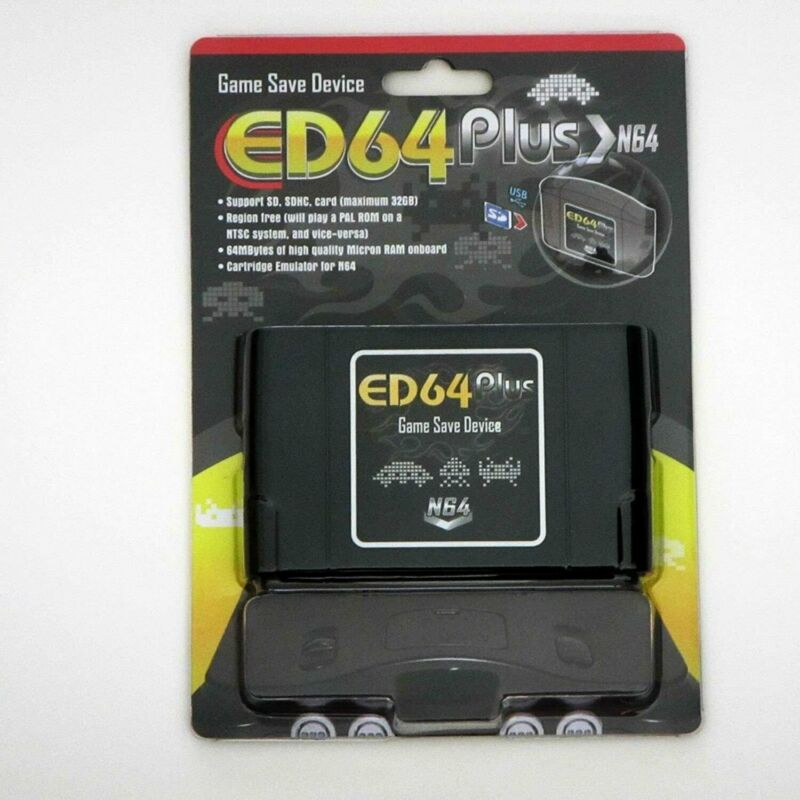 EverDrive ED64 Plus N64 For Nintendo 64 ED64+ Video Game Save Device NTSC PAL