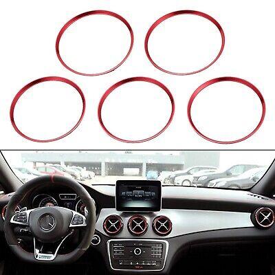5x Lüftungsringe Blenden Alu Rot Mercedes Benz A B GLA CLA Ringe Lüftungsdüse