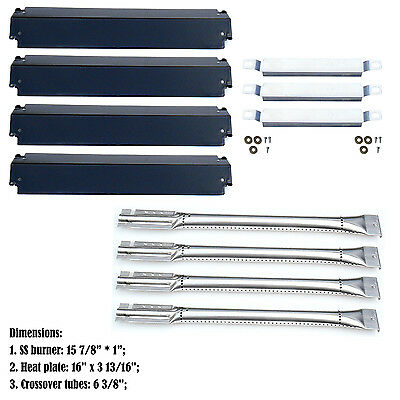 Replacement Repair Kit Burner&Heat Plate&Carry Over Tube for Charbroil Gas Grill