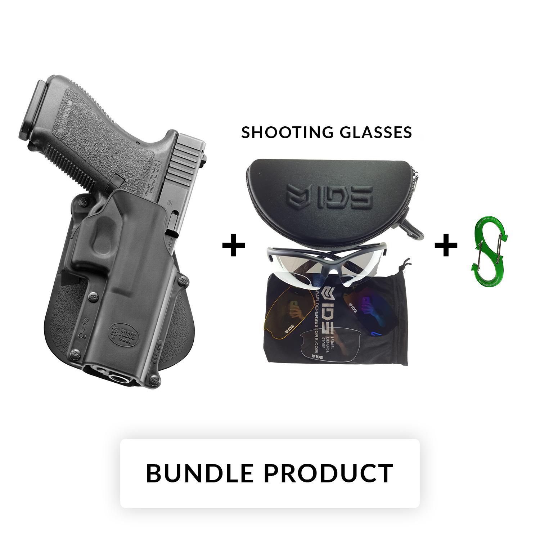 Details about BUNDLEFobus Right Hand Paddle Holster Model GL3 for Glock  20/21/37