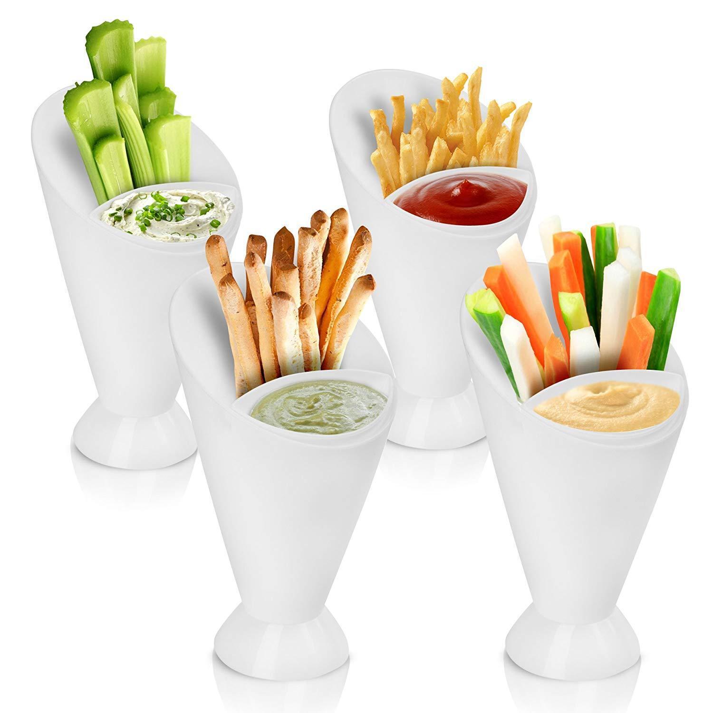 2in1 Snackschale Pommesschale Dip Schüssel Snacks Fingerfoodhalter Servierschale