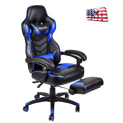 High Back Racing Gaming Chair Ergonomic Swivel Office Desk Task Recliner Seat
