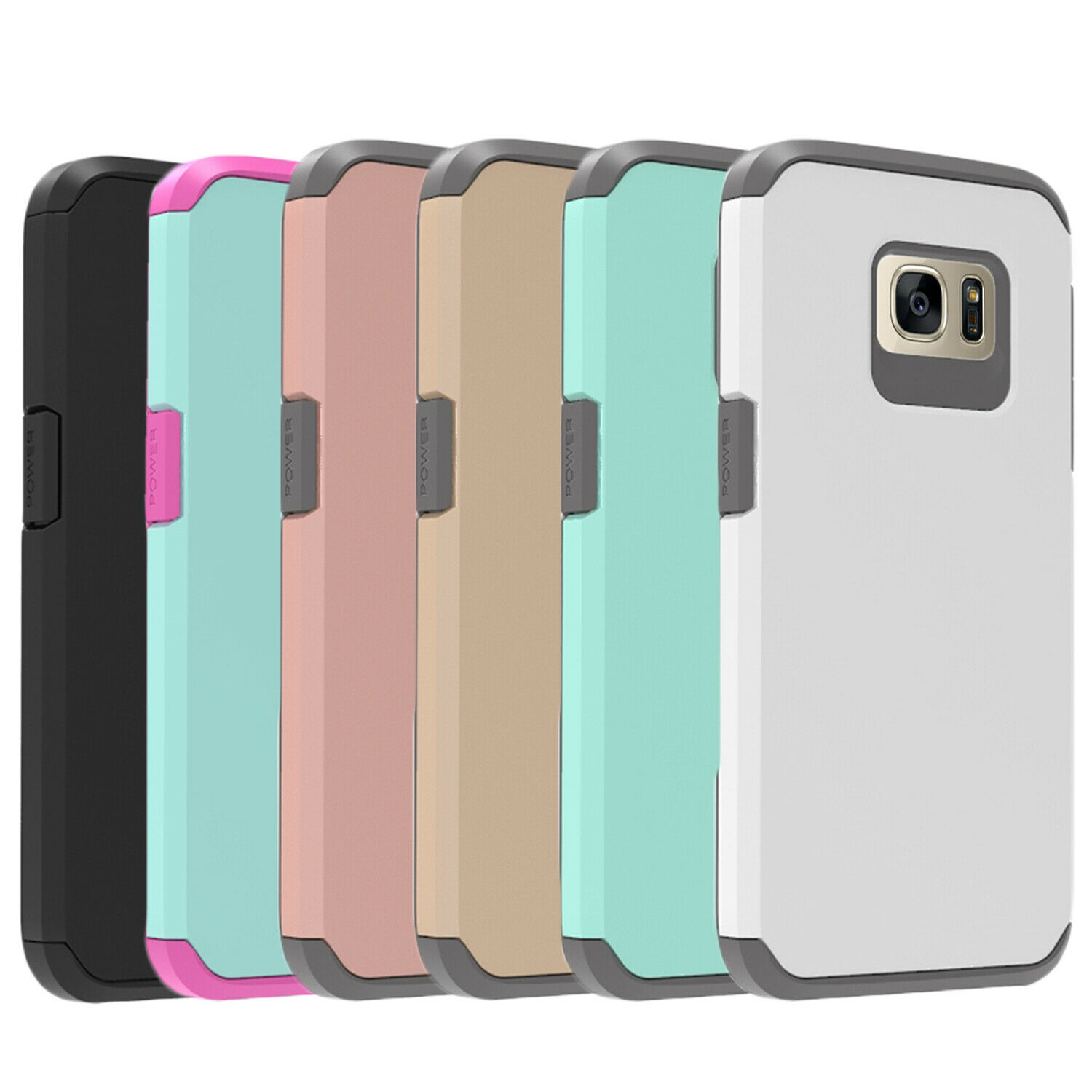 For Samsung Galaxy S7 / S7 Edge , Shockproof Case + Glass Sc