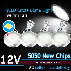 4pcs 12V 5050 9-LED Car Caravan Van Interior Roof Ceiling Dome Light Lamp Bulbs