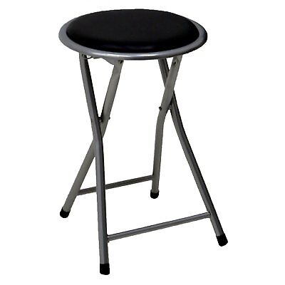 NEW! Black Padded Folding Breakfast Kitchen Bar Stool Seat