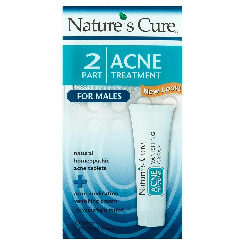 Tratamiento De Hombres Para Quitar El Acne Combinacion Potente Crema Y Pastillas