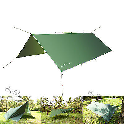 Outdoor Camping Waterproof Rain Tarp Tent Canopy Shelter Cover Sunshade 10x 12FT