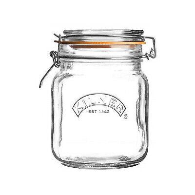 Kilner 1.5Litre Large Glass Food Preserving Cliptop Storage Jars Coffee Sugar