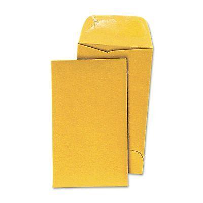 500 Coin Envelopes 3.5x6.5 20lb Kraft Shipping Mailing Gummed Small Manila 7