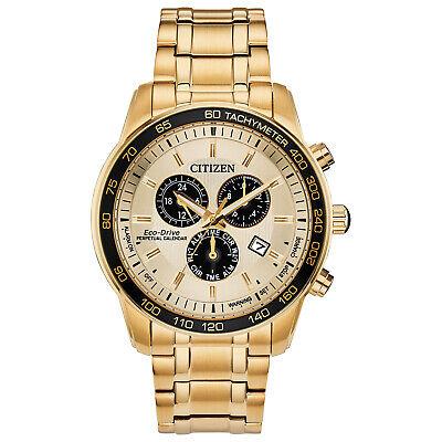 Citizen Eco-Drive Men's Perpetual Calendar Chronograph 44mm Watch BL5512-59P