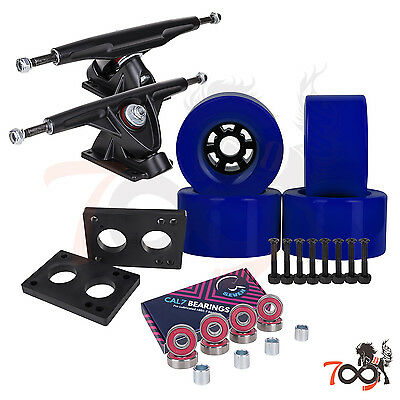 Cal 7 Longboard Flywheel 180mm Truck Bearing 90mm Blue Skateboard Wheels