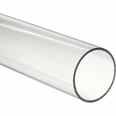 2 Pieces - Acrylic Tube 12 Od X 14 Id - 12 Long Clear For Diy Craft...