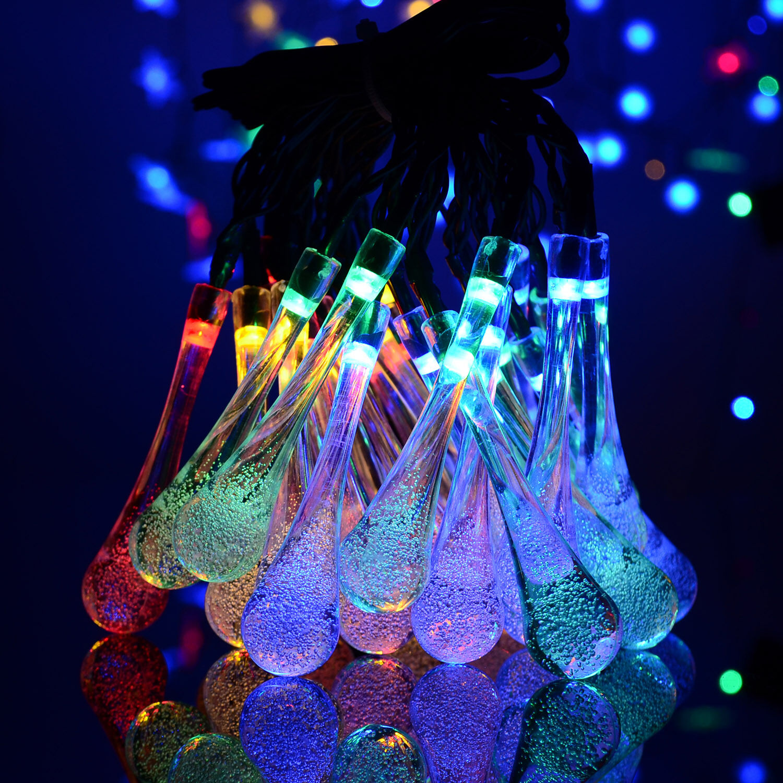 solar 30 led lichterkette solarleuchte weihnachten au en dekoration beleuchtung eur 11 99. Black Bedroom Furniture Sets. Home Design Ideas
