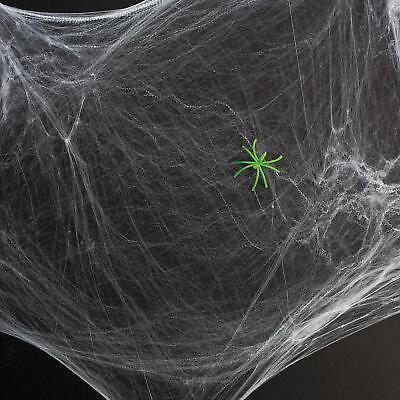 STRETCHABLE SPIDER WEB WEBBING HALLOWEEN PARTY DECORATION + GLOW IN DARK SPIDER - Spider Web Halloween Games