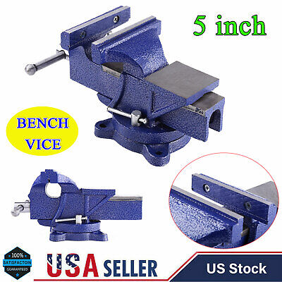5 Heavy Duty Mechanic Bench Vise Table Top Clamp Press Locking Swivel Base New