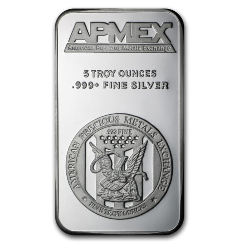 5 oz Apmex Fine Silver Bar