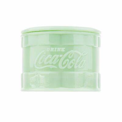 TableCraft Coca-Cola / Coke Jadeite Green Glass Salt Cellar / Box