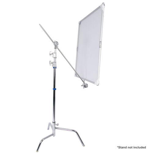 "35x35"" Flat Panel Light Reflector Photo Studio White/Silver Foldable Photography"