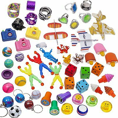 Super Cool School Carnival Favor Trinkets Game Prize Toy Assortment (100 Pieces)